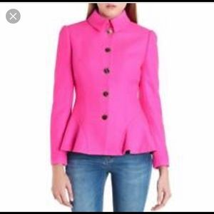 Ted Baker London Pink wool peplum blazer